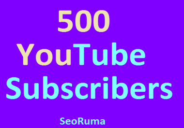 Manually 500+ YouTube Chanel Subscribers non Drop or 1500+ YouTube Likes Very Fast