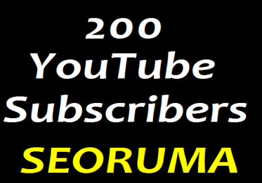 Manually 200+ YouTube Chanel Subscribers non Drop Lifetime Guaranteed or 2000+ YouTube Likes Very Fast