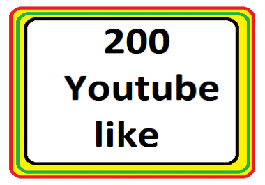 Add 200 Youtube likes in video non drop refill guaranteed  very fast delivery just