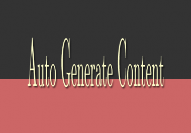 Create auto generate content (AGC)  website