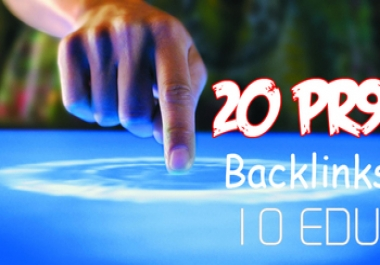 Top Quality 20 PR9 And 10 Edu Us based High Pr Backlinks