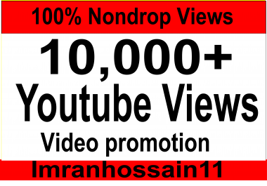 Instant Start 10,000 to 15,000 + Super Fast Nondrop High Quality Real Youtube video vie ws