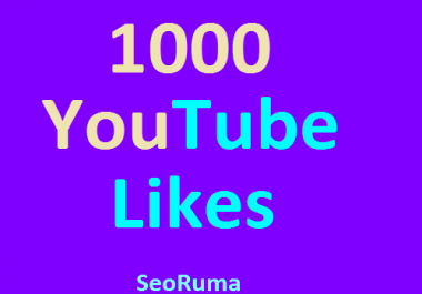 Super Fast 1000+ Real YouTube likes with in 8-12 Hours