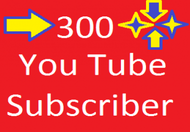 300 high quality youtube subcriber only
