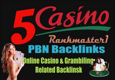 5 Manual PBN - Backlinks from Poker,Gambling, Online Casino sites
