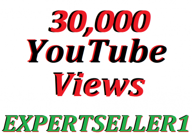 Limited Offer 30,000 YouTube views to make Attractive your Video 30 days Refill Guarantee
