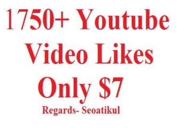 Give you 1750+ Youtube Likes Promotion Super Fast