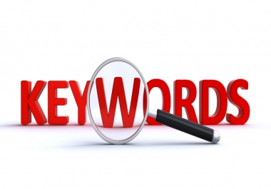 Research 50 most profitable keywords for your site