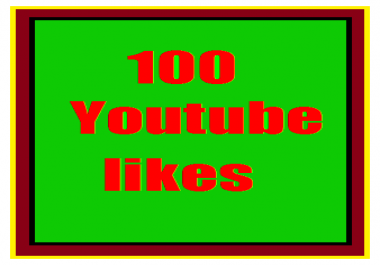 100+ youTube likes  Refill guaranteed  just 1-6 hours order completed