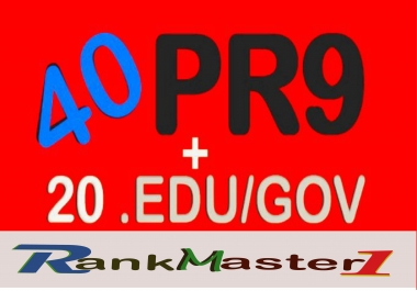 Skyrocket your seo Google Rankings with 40 PR9 + 20 EDU/GOV DA 70+ High PR safe Backlinks