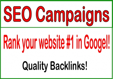 SEO Campaigns-?Rank your website 1 in Googel!