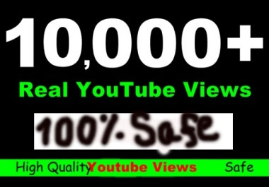 2,000 High Retentional and Safe youtube views only