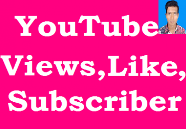 Instant 3,500+ FAST YOUTUBE VIEWS +100 subscriber and 50 Likes In less then 24 - 35 Hou