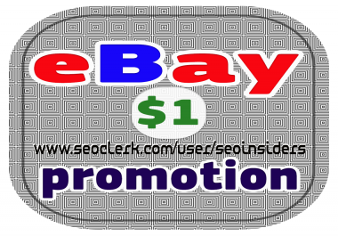 PROMOTE any eBay Items, listing
