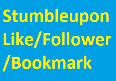 50+ Stumbleupon follower or 20+ Bookmarking Backlink in low price
