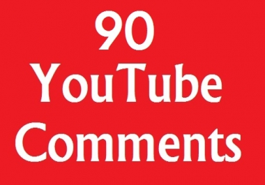 Provide you 90+ YouTube Comments On Video very fast added