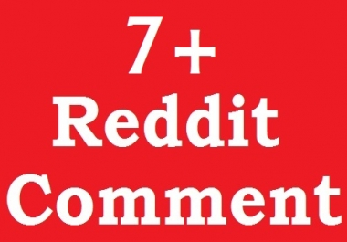 Instant get 7 Reddit Custom Comments on your page very fast only
