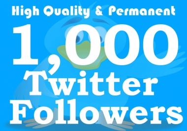 Get 1,000+ Twiter Follwers From Stable Genuine Accounts within 24hrs