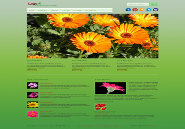 Fully HTML website will be made with responsive layout.