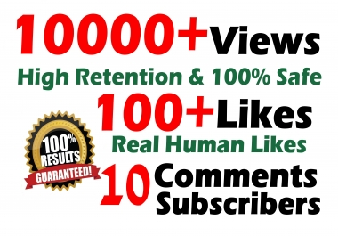 10000 GR views + 100+ Likes + 10 Real comments video SeoPromotion
