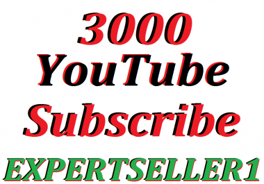 Limited Offer 3000 Non Drop YouTube Channel Subscribers Refill Guarantee