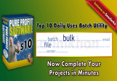 Top 10 Free to use Daily use Batch Utility Software Package