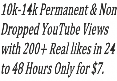 8000-10000 Real & Non Dropped You,Tube Vie,ws With 200+ Real lik,es in12- 24 hours