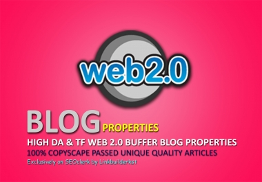 Premium Web 2.0 Buffer Blog Properties With Login, Unique Content, Image And Video