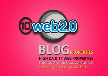 10 Most Powerful Web 2.0 Blog Properties - Handmade Contextual Backlinks