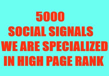 BUILD ORGANIC 5000 SOCIAL SIGNALS WILL BE CREATED FROM AUTHORITY SOCIAL MEDEA SITE