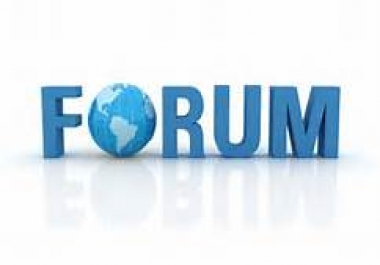 I can write 10 Forum Posts - High Quality