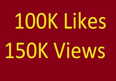 Instant Start 100000 p.like or 150,000 v.views Marketing within 48 hours