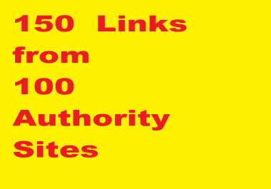 Manual 150+ links, DA 45 to 99 from 100 domains