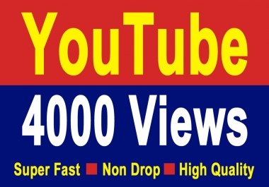 8000 youtube high quality  views non drop super fast