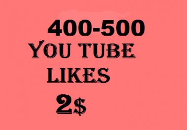 100 youtube Likes in 24 hours