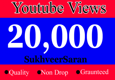 Add 20000 or 20,000 or 20k  YouTube views