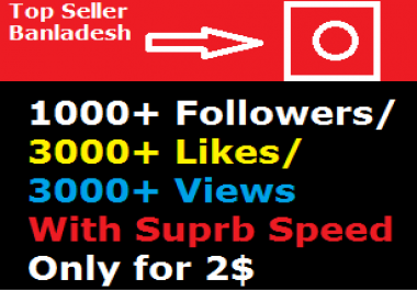 Add 1000 Fast Profile Followers or 3000 Likes or 3000 Video Views
