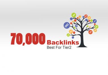 GET 70,000 BACKLINKS, Best For Tier2