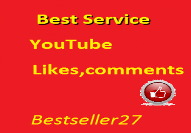 25 youtube custom comments or 250  youtube likes