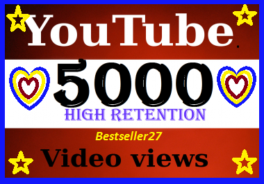 Super fast 4000-5000 YouTube views super fast delivery only
