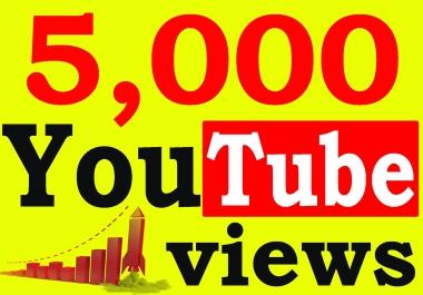 Fast 5000+ Adsense Safe HQ Retention 99% You-Tube Vie'ws Non Drop