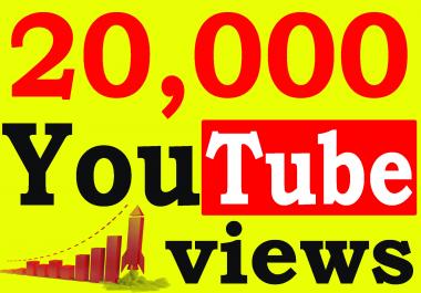 Fast 20,000+ Adsense Safe HQ Retention 99% You-Tube Vie'ws Non Drop