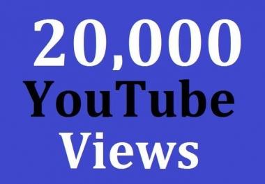 20,000 High Quality Views Safe Non Drop Guarantee
