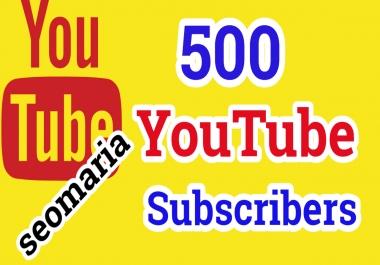 500 YouTube Subscribers Safe Non Drop Guarantee
