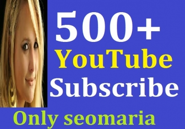 500 YT Channel Subscribers Safe and Real Active Instant Delivery