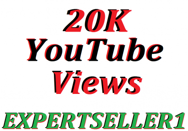 Limited Offer 20K HQ You/Tube Vie-ws In Your Video