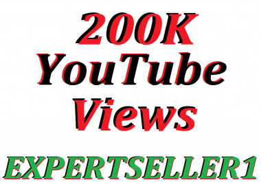 Limited Offer 200K HQ You/Tube Vie-ws In Your Video