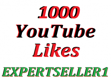 Limited Offer 1000  YouTube Likes to make Attractive your Video
