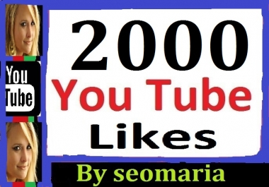 2000+ Youtube likes Splite Available 12-24 hours in complete