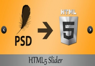 Covert PSD to HTML from professional Web Designer